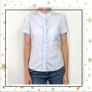J.Crew light blue high neck short sleeve shirt (C7